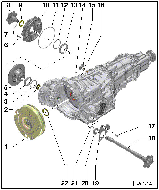 Audi Workshop Manuals > A4 Mk3 > Power transmission
