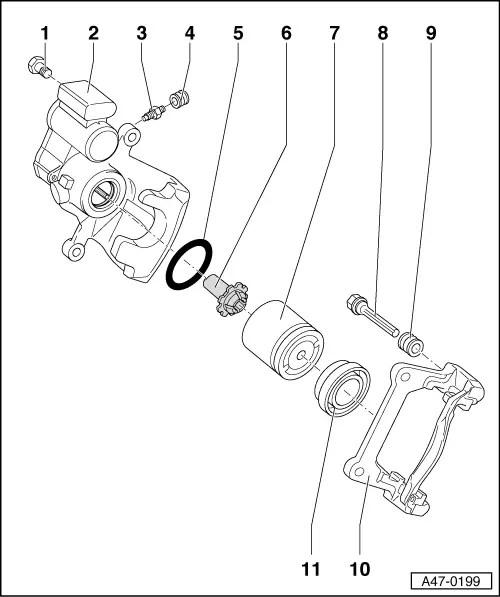 Audi Workshop Manuals > A4 Mk3 > Brake system > Brakes