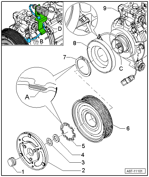Audi Workshop Manuals > A4 Mk3 > Heating, ventilation, air