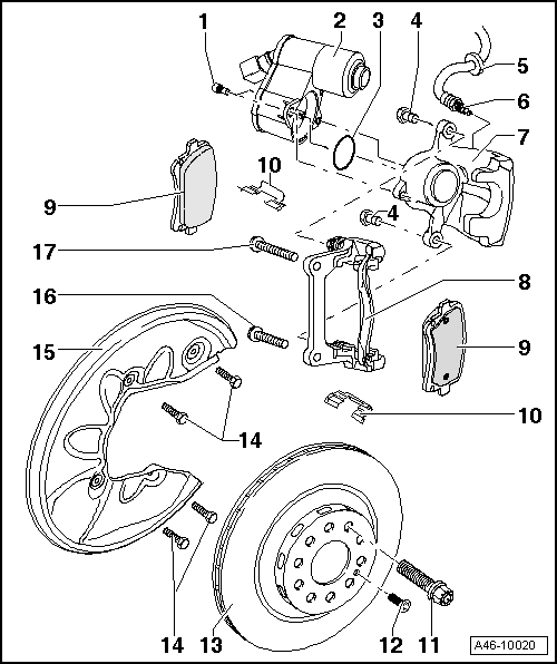 Audi Workshop Manuals > A4 Mk3 > Brake system > Brake
