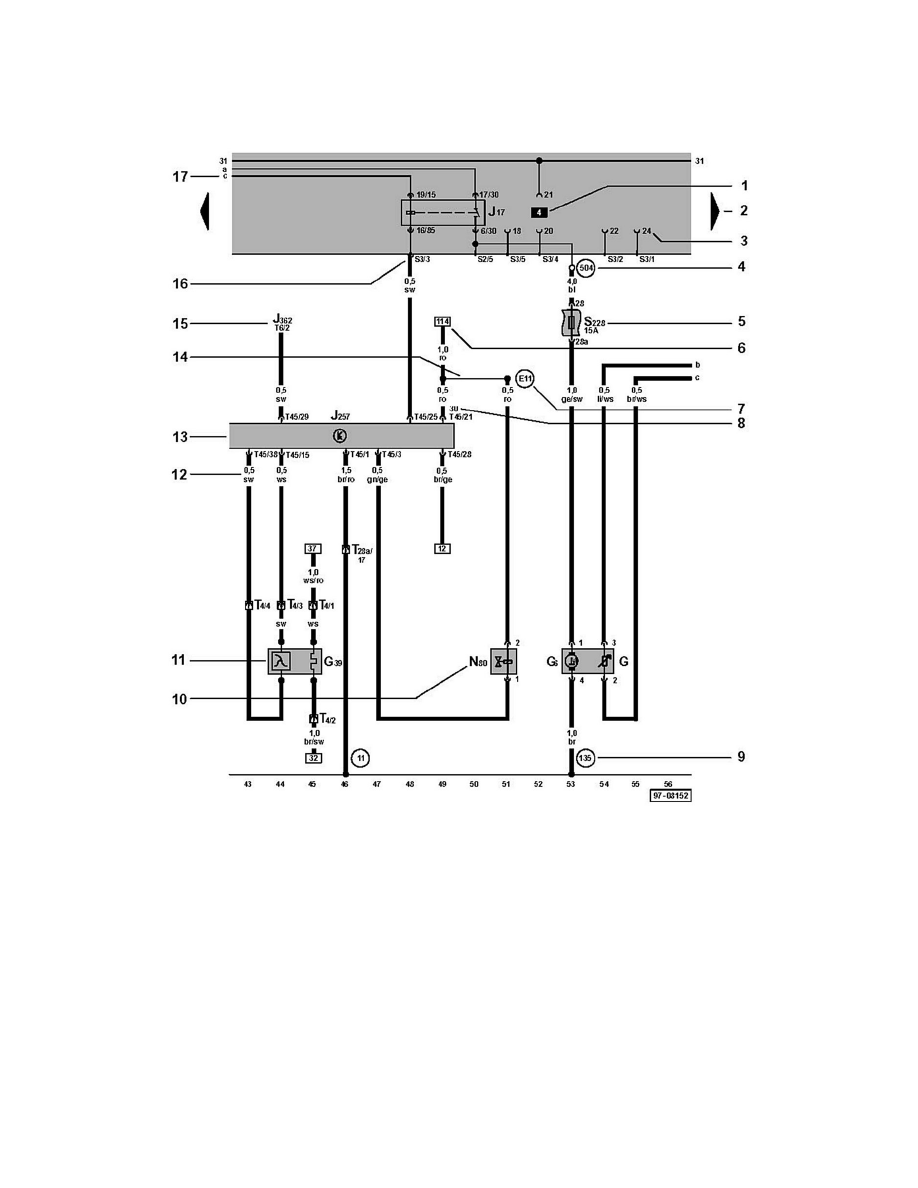 medium resolution of system radiator cooling fan motor relay component information diagrams audi workshop manuals a4 quattro