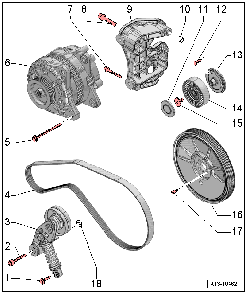 Audi Workshop Manuals > A5 > Power unit > 8-cylinder