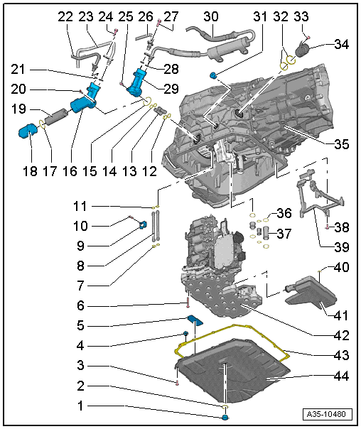 Audi Workshop Manuals > A5 > Power transmission > 7-speed