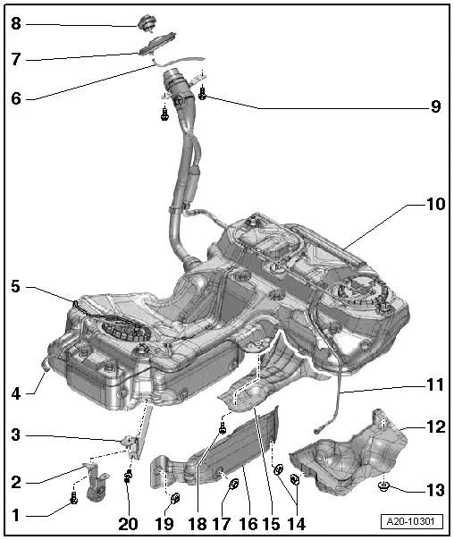 Audi Workshop Manuals > A5 > Power unit > Fuel supply