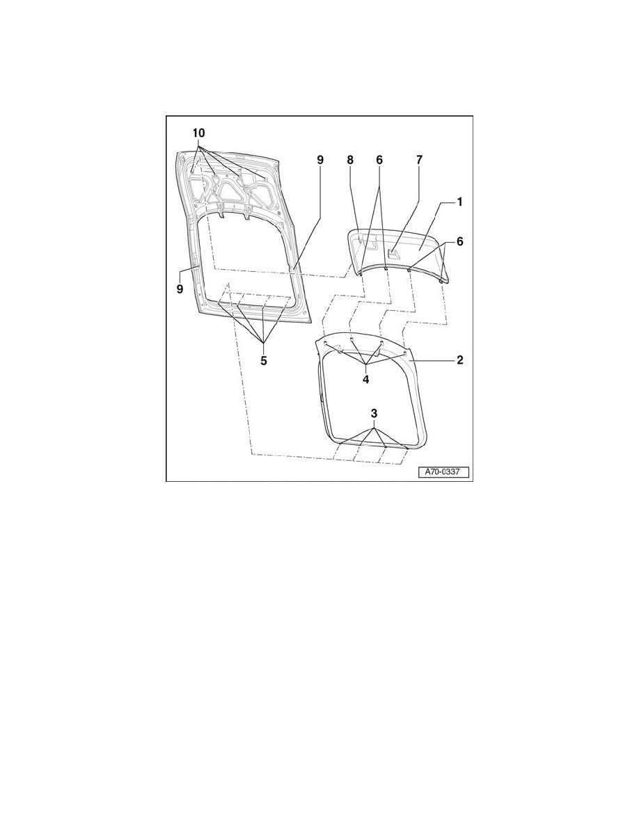 Service manual [1985 Audi Quattro Rear Hatch Trim Panel