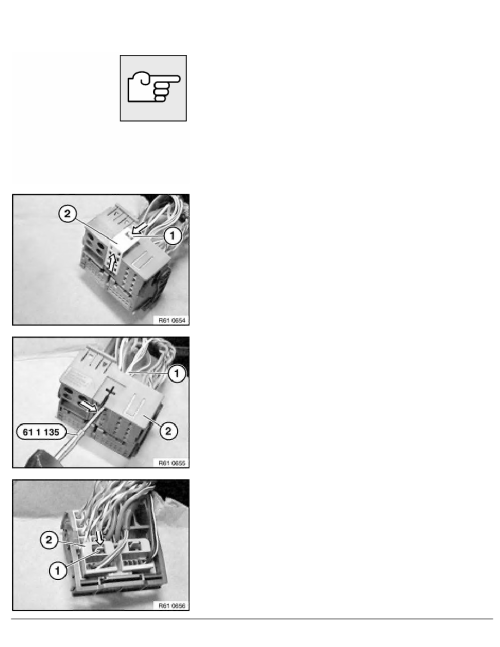 small resolution of 2 repair instructions 61 general electrical system 13 plug connection terminal fuse