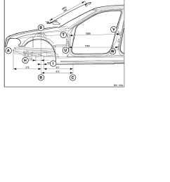 2 repair instructions 41 body coupe 0 body 8 ra frame alignment control dimensions body side view front end bmw e 46 4 door [ 918 x 1188 Pixel ]