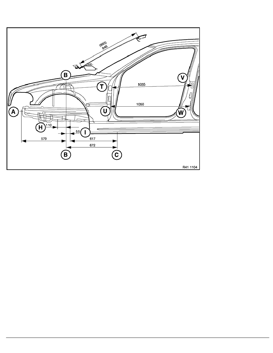 hight resolution of 2 repair instructions 41 body coupe 0 body 8 ra frame alignment control dimensions body side view front end bmw e 46 4 door