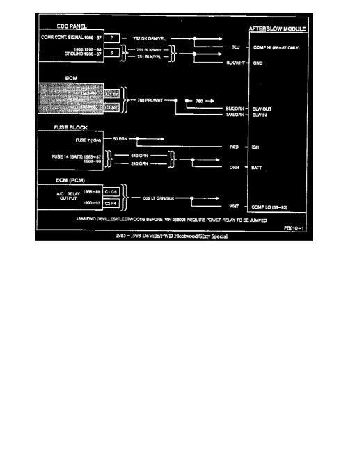 small resolution of  information technical service bulletins customer interest a c odor with start up in humid climates afterblow module wiring diagrams 1985 to