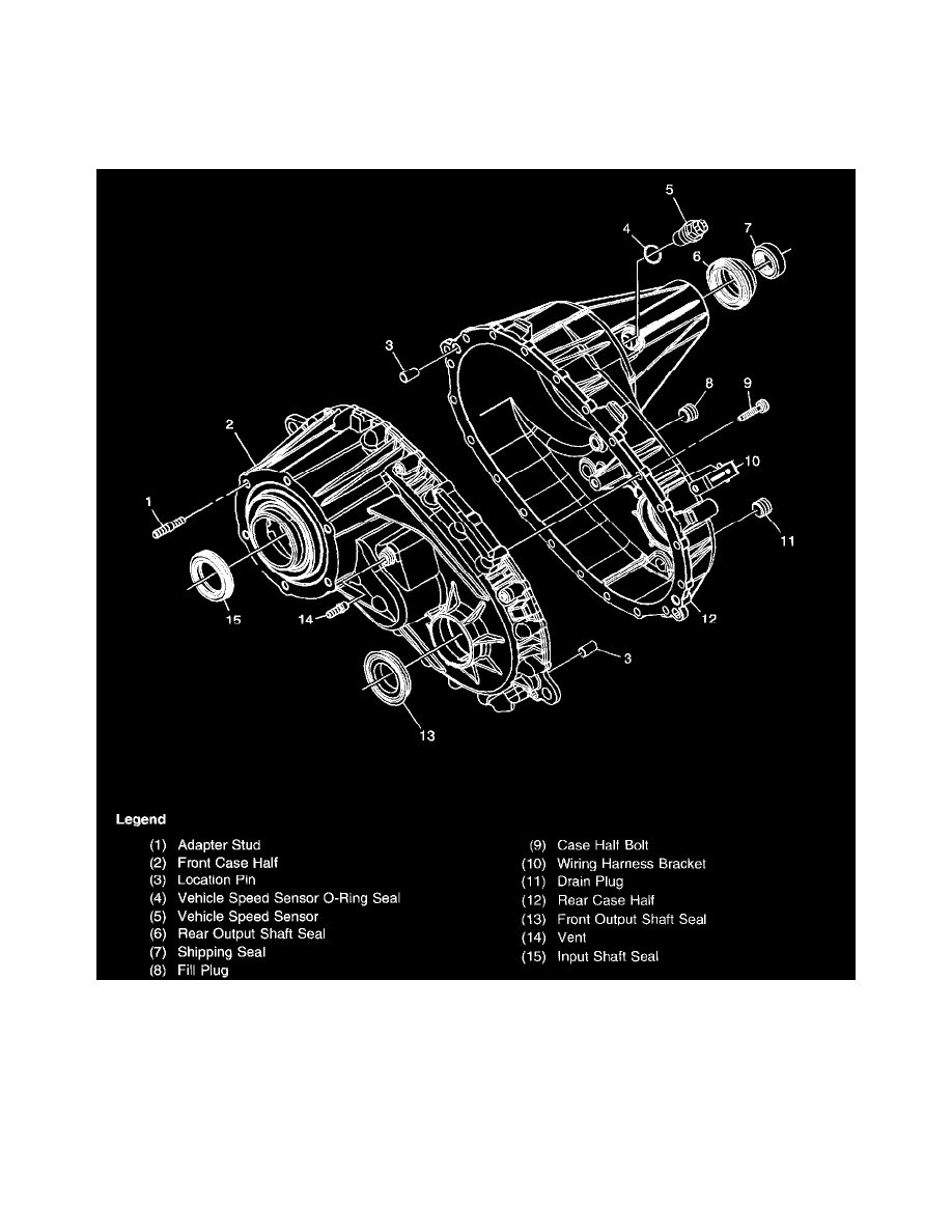 medium resolution of transmission and drivetrain transfer case component information diagrams transfer case bw 4473 np3 page 5124