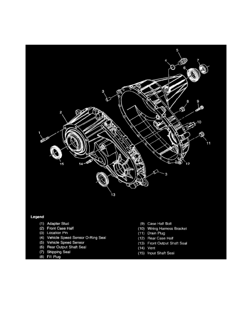 small resolution of transmission and drivetrain transfer case component information diagrams transfer case bw 4473 np3 page 5124