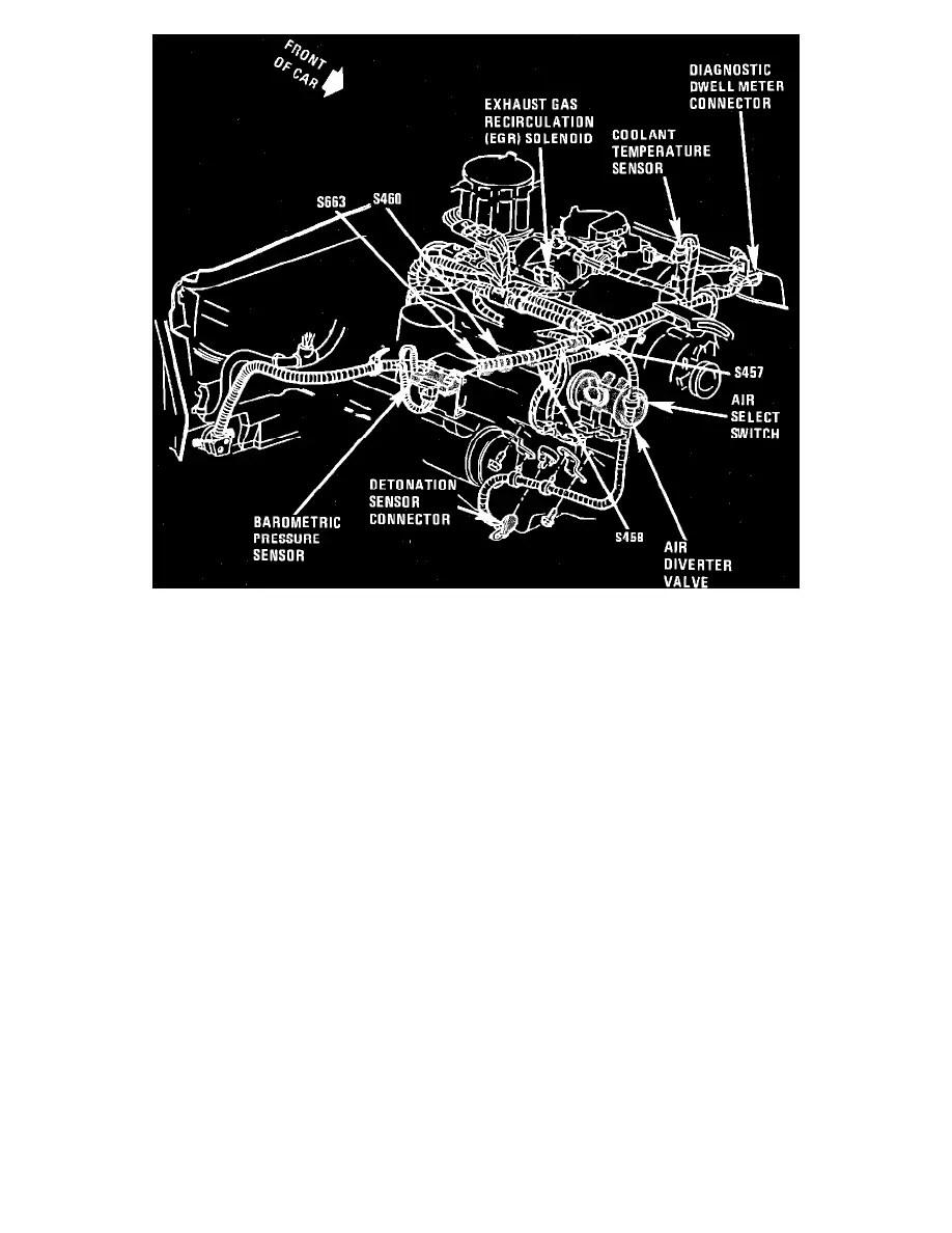 medium resolution of chevrolet workshop manuals u003e monte carlo v8 305 5 0l vin h 4 bbl 1987 1989 chevy camaro cooling fan wiring diagram