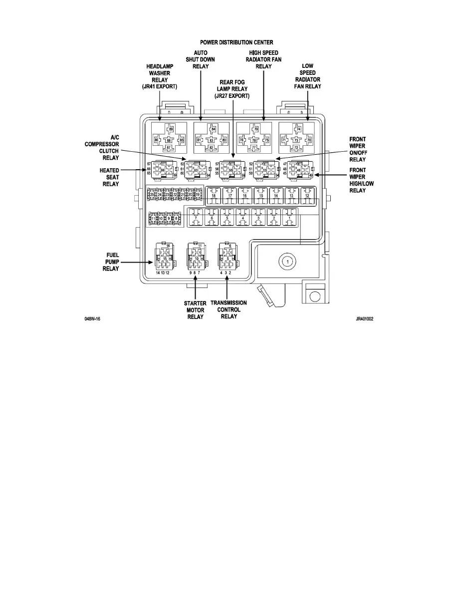 Chrysler Workshop Manuals > Sebring Sedan L4-2.4L VIN J