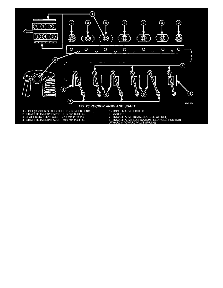 medium resolution of engine cooling and exhaust engine camshaft lifters and push rods rocker arm assembly component information specifications page 1609
