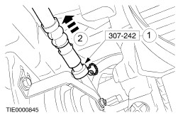 Ford focus power steering fluid pipe
