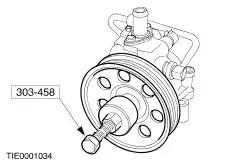 Power Steering Pump Pulley Installation Tool Parking Brake