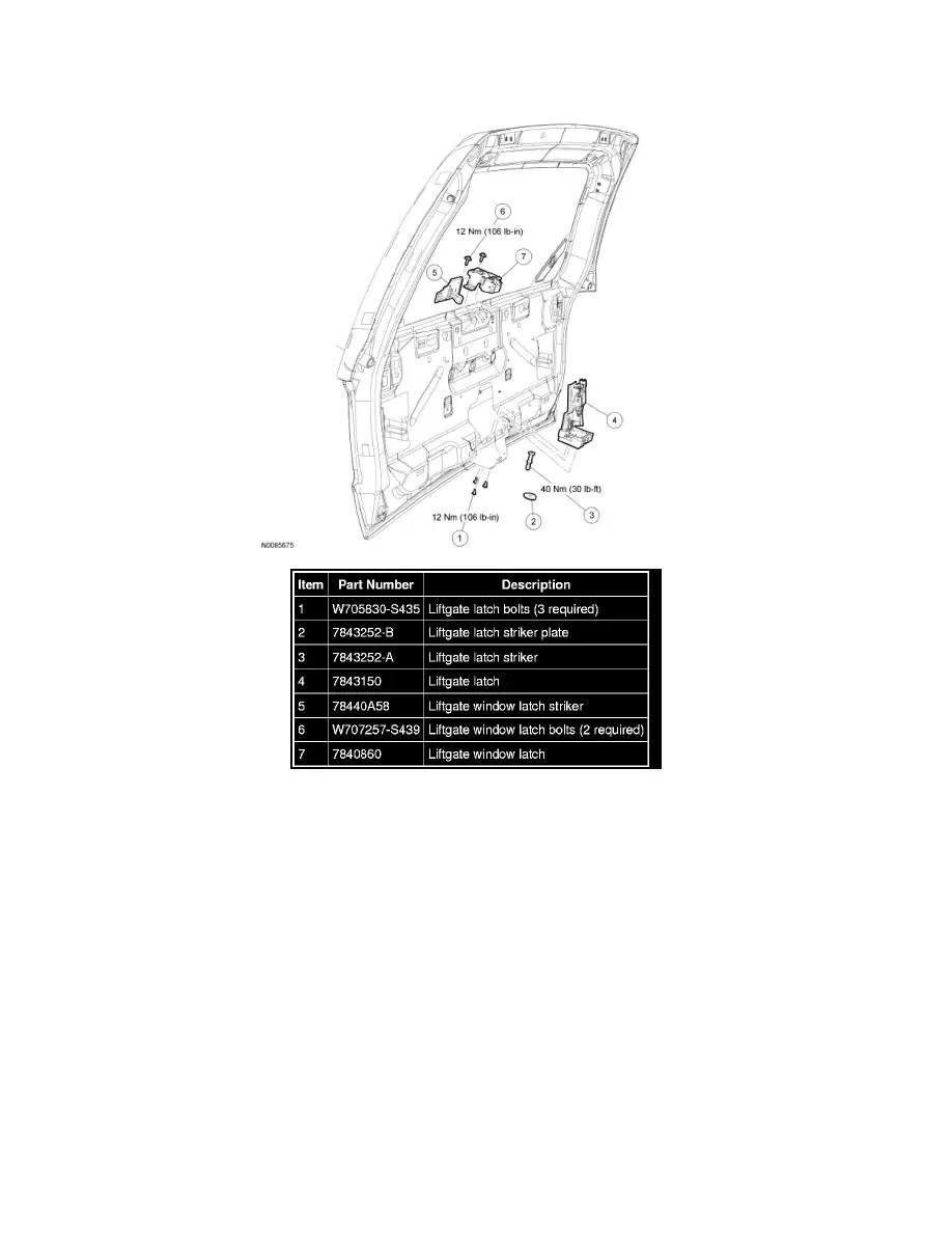 Ford Workshop Manuals > Escape 2WD V6-3.0L (2009) > Body