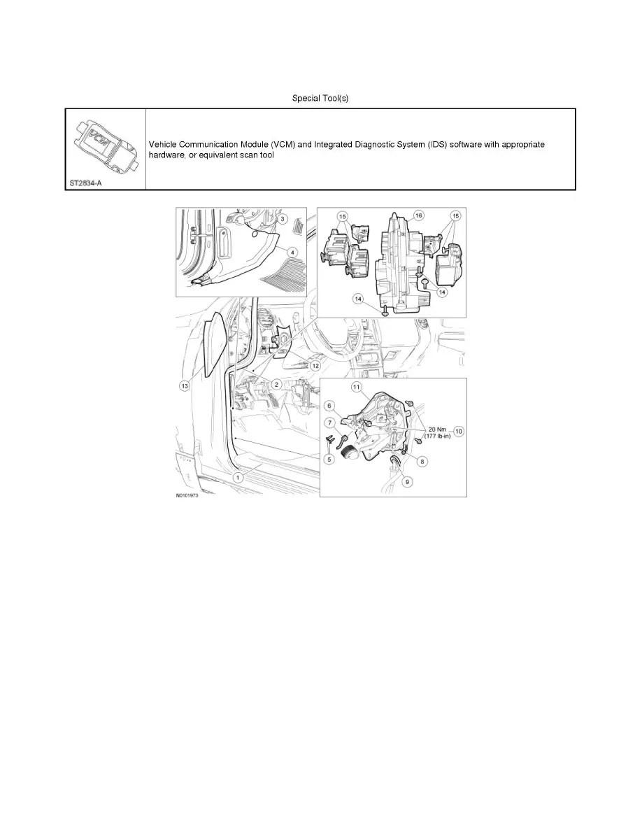 Ford Workshop Manuals > Explorer AWD V8-4.6L (2010) > Body
