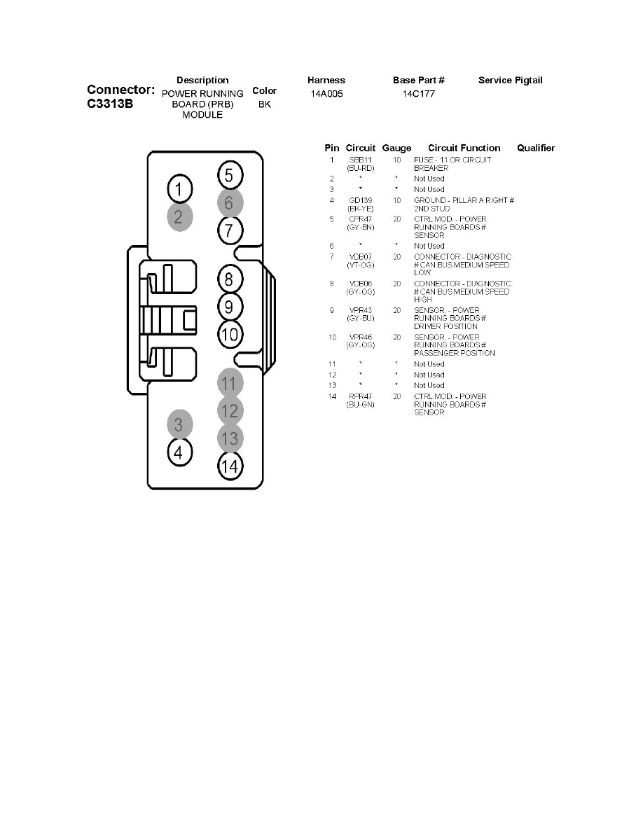 hight resolution of body and frame relays and modules body and frame auxiliary step running board module component information diagrams c3313a power running board