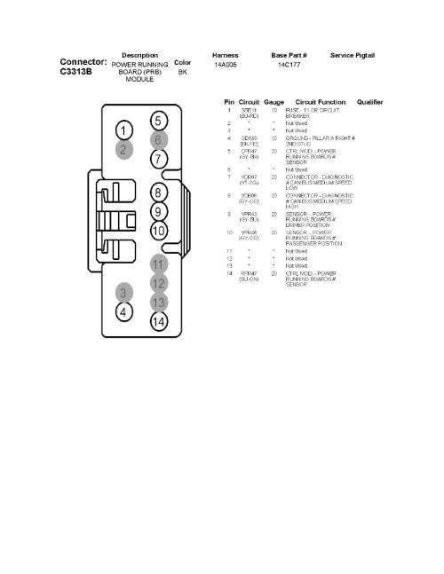 small resolution of body and frame relays and modules body and frame auxiliary step running board module component information diagrams c3313a power running board