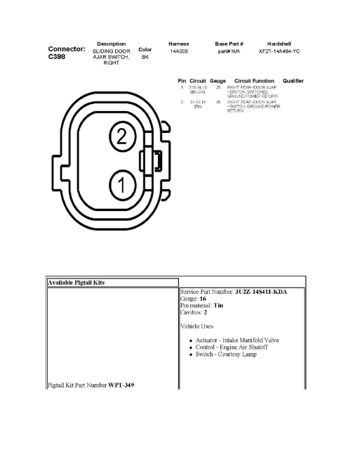 small resolution of body and frame sensors and switches body and frame door position switch component information diagrams sliding door contact switch