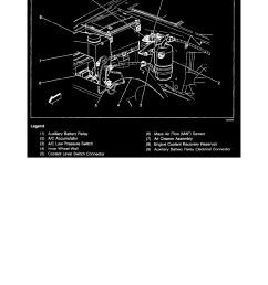engine cooling and exhaust cooling system coolant reservoir component information locations [ 918 x 1188 Pixel ]