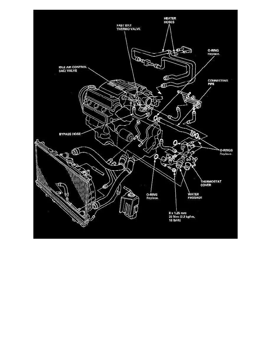 Honda Accord Cooling System Diagram Honda Accord Engine Diagram