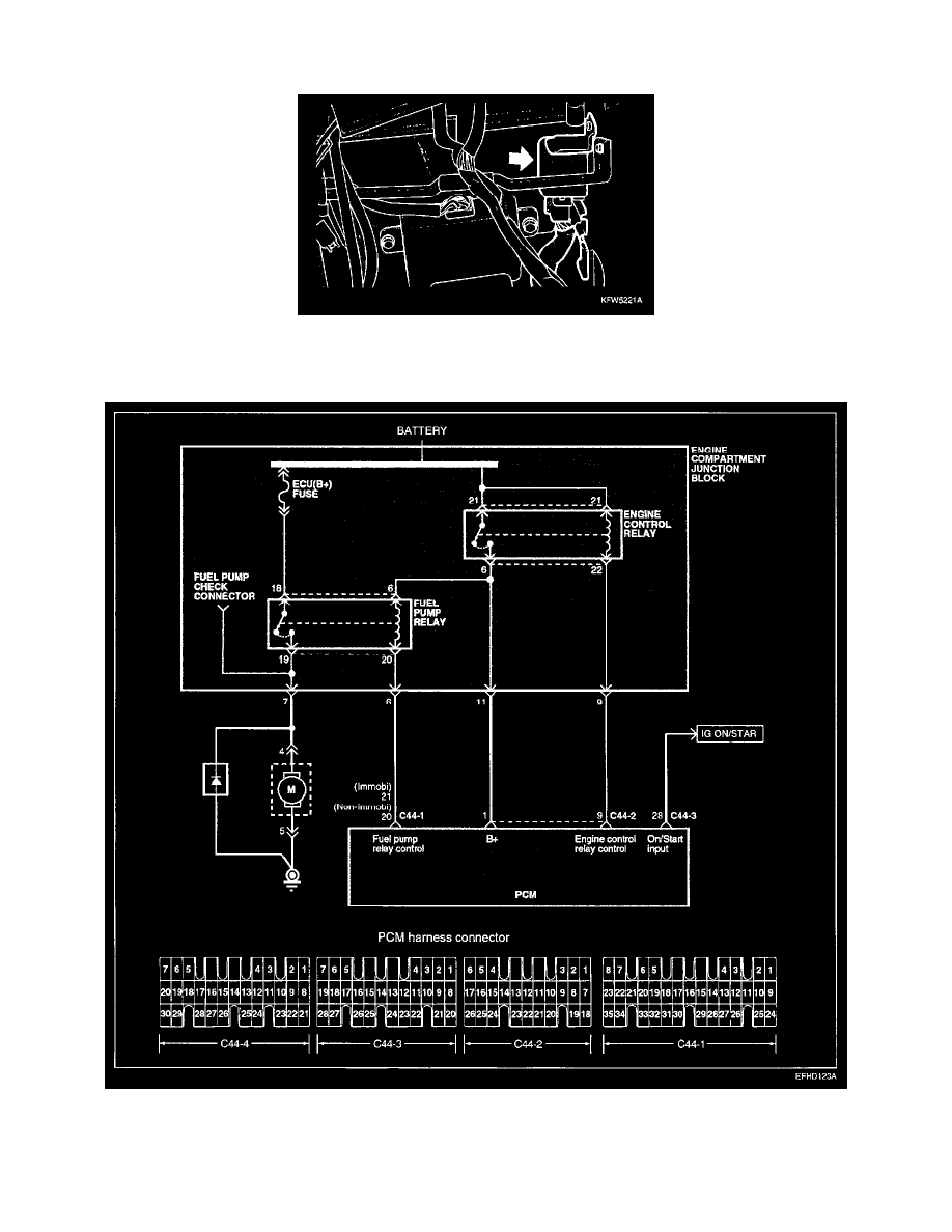 medium resolution of  management relays and modules fuel delivery and air induction main relay computer fuel system component information diagrams page 450