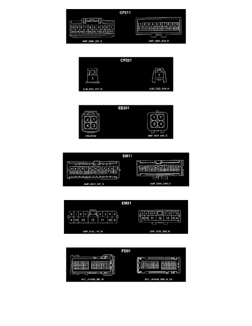 small resolution of power and ground distribution multiple junction connector component information diagrams engine compartment junction box page 9545