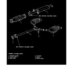 engine cooling and exhaust exhaust system muffler component information diagrams hyundai workshop manuals sonata  [ 918 x 1188 Pixel ]