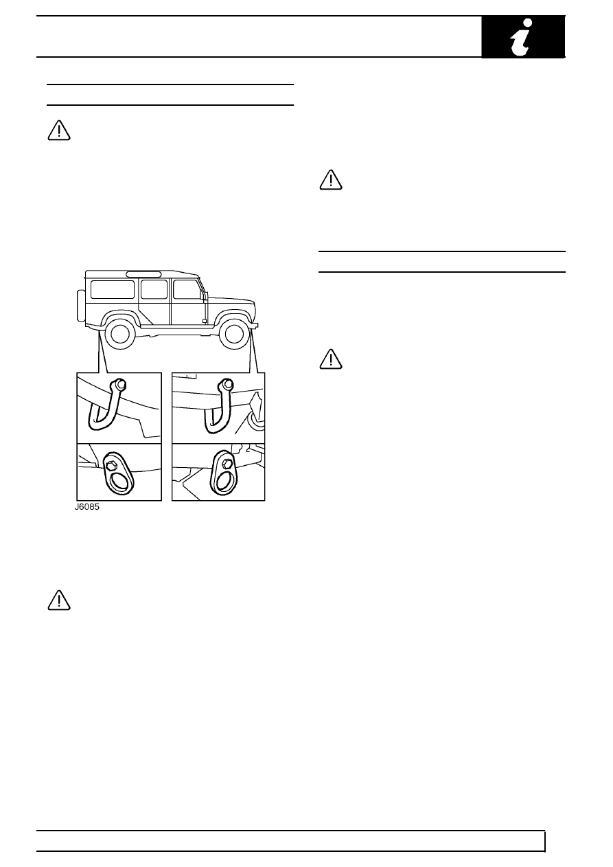 Land Rover Workshop Manuals > TD5 Defender > INTRODUCTION