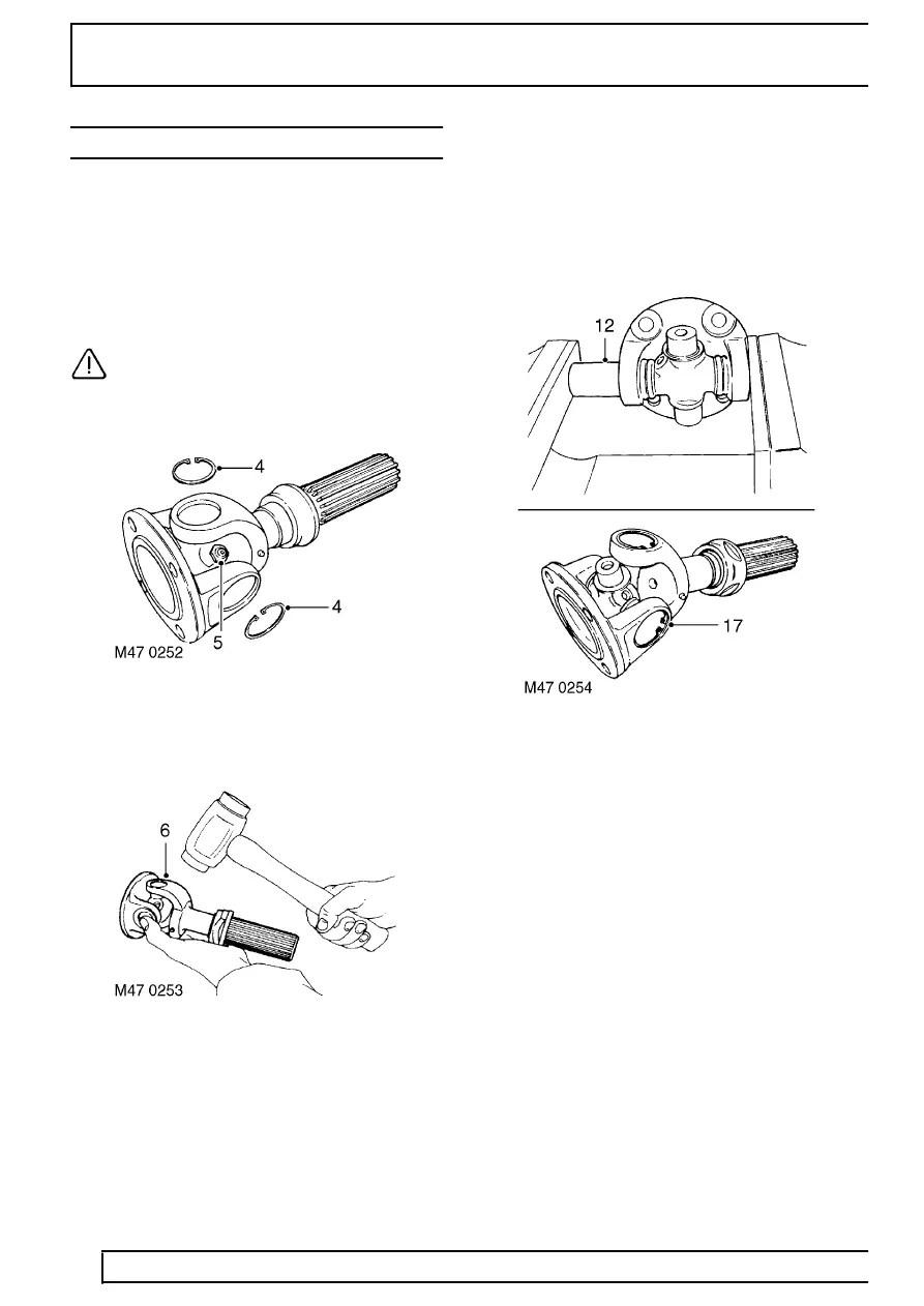 Land Rover Workshop Manuals > TD5 Defender > PROPELLER