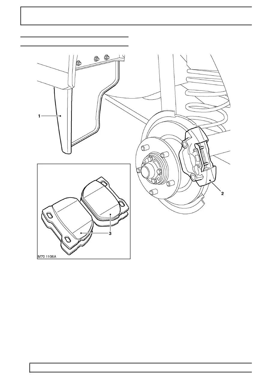 Land Rover Workshop Manuals > TD5 Defender > BRAKES > REAR