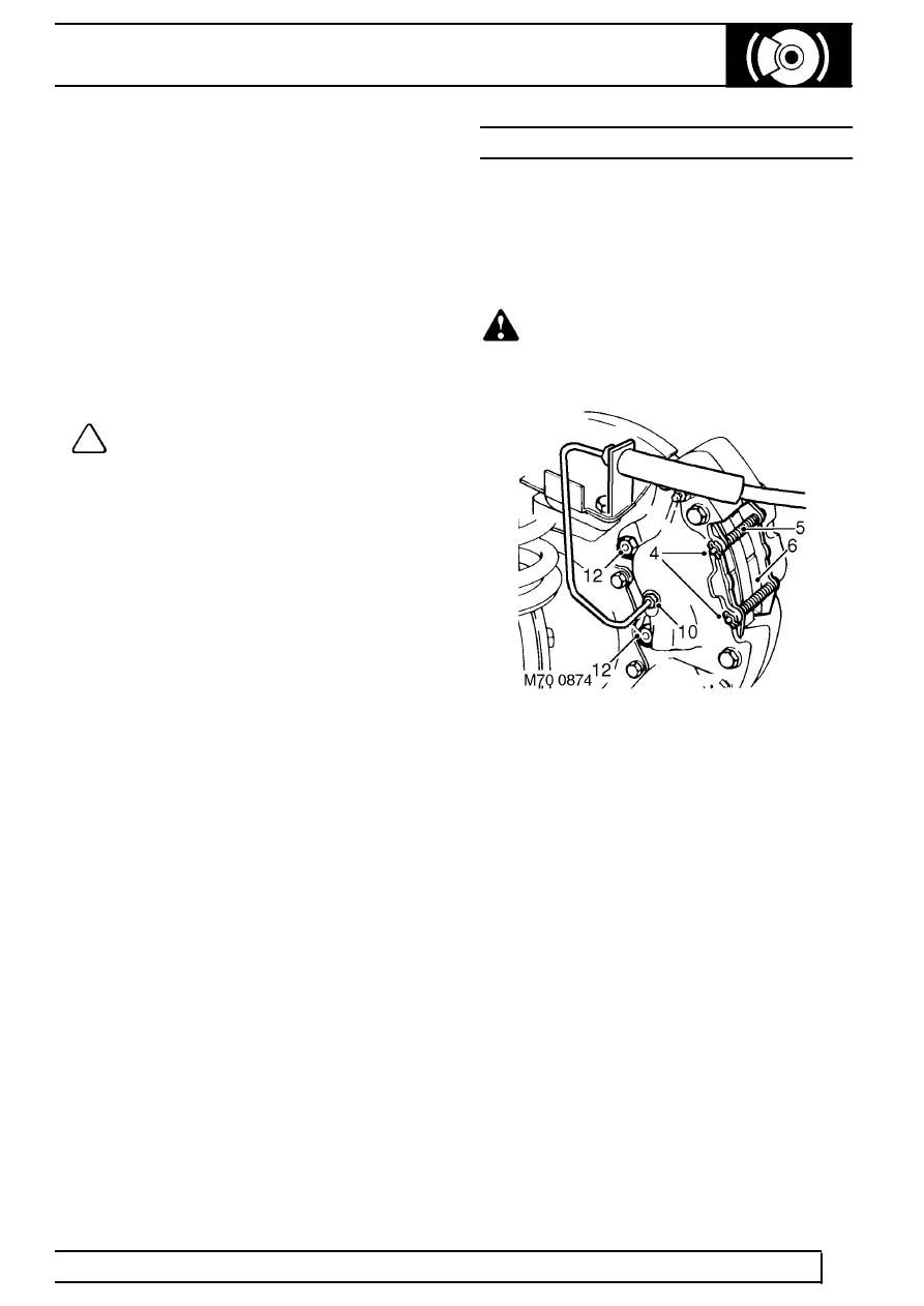 Land Rover Workshop Manuals > TD5 Defender > BRAKES
