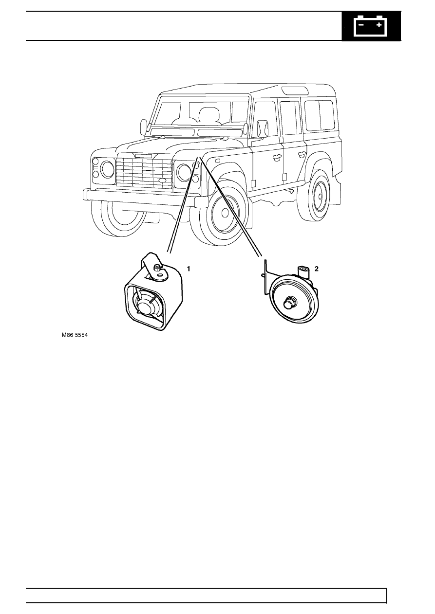 Land Rover Workshop Manuals > TD5 Defender > ELECTRICAL