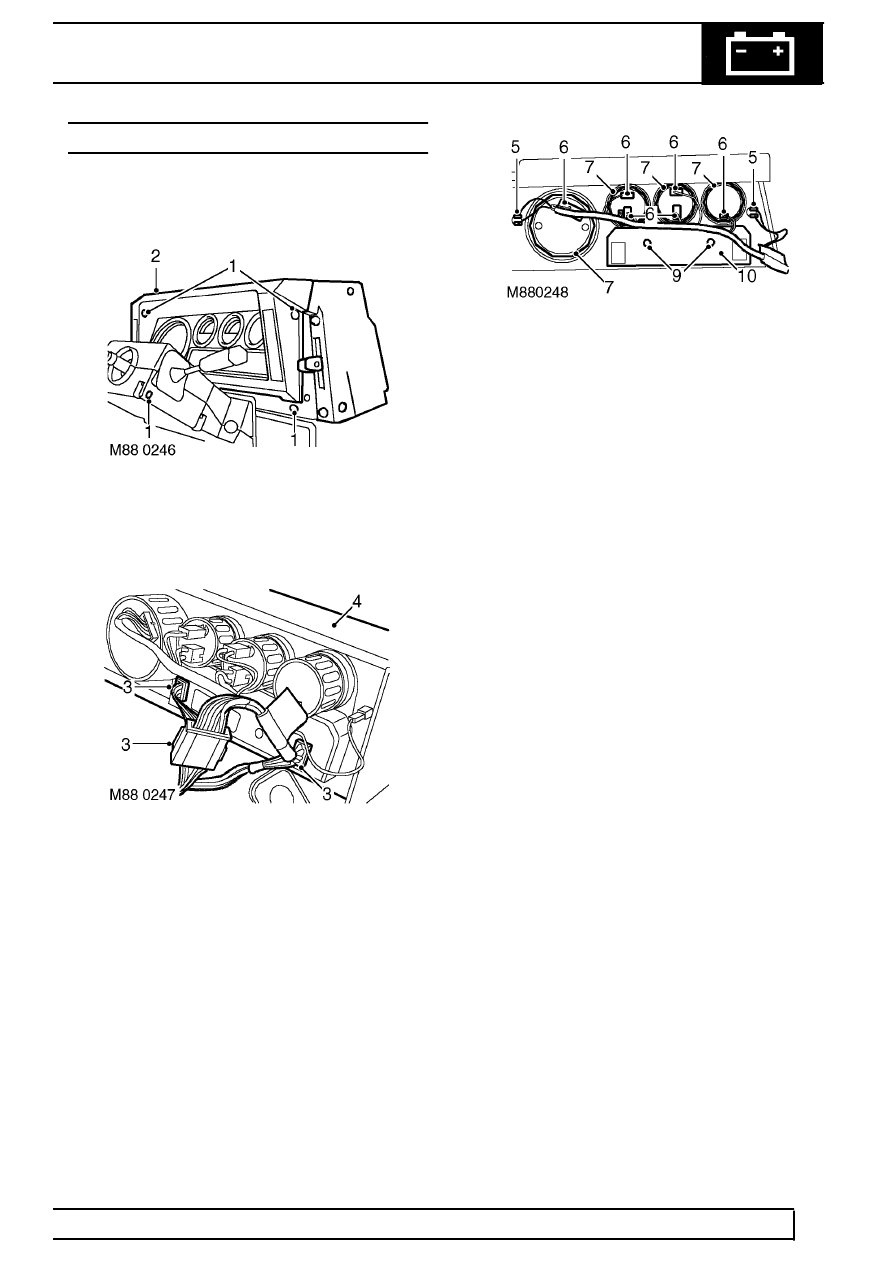 Land Rover Workshop Manuals > TD5 Defender > INSTRUMENTS