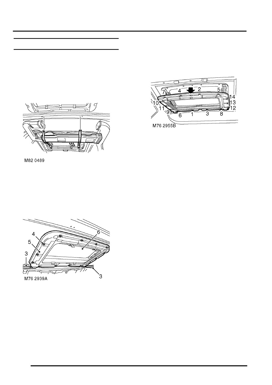 Land Rover Workshop Manuals > Discovery II > SUNROOF