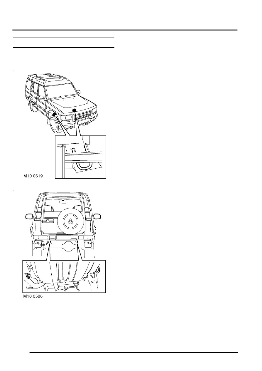 Land Rover Workshop Manuals > Discovery II > LIFTING AND