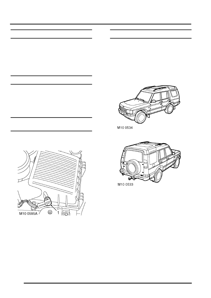 Land Rover Workshop Manuals > Discovery II > MAINTENANCE