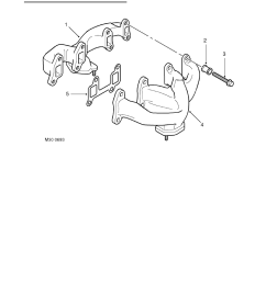 manifolds and exhaust systems v8 description and operation exhaust manifold component layout [ 893 x 1263 Pixel ]