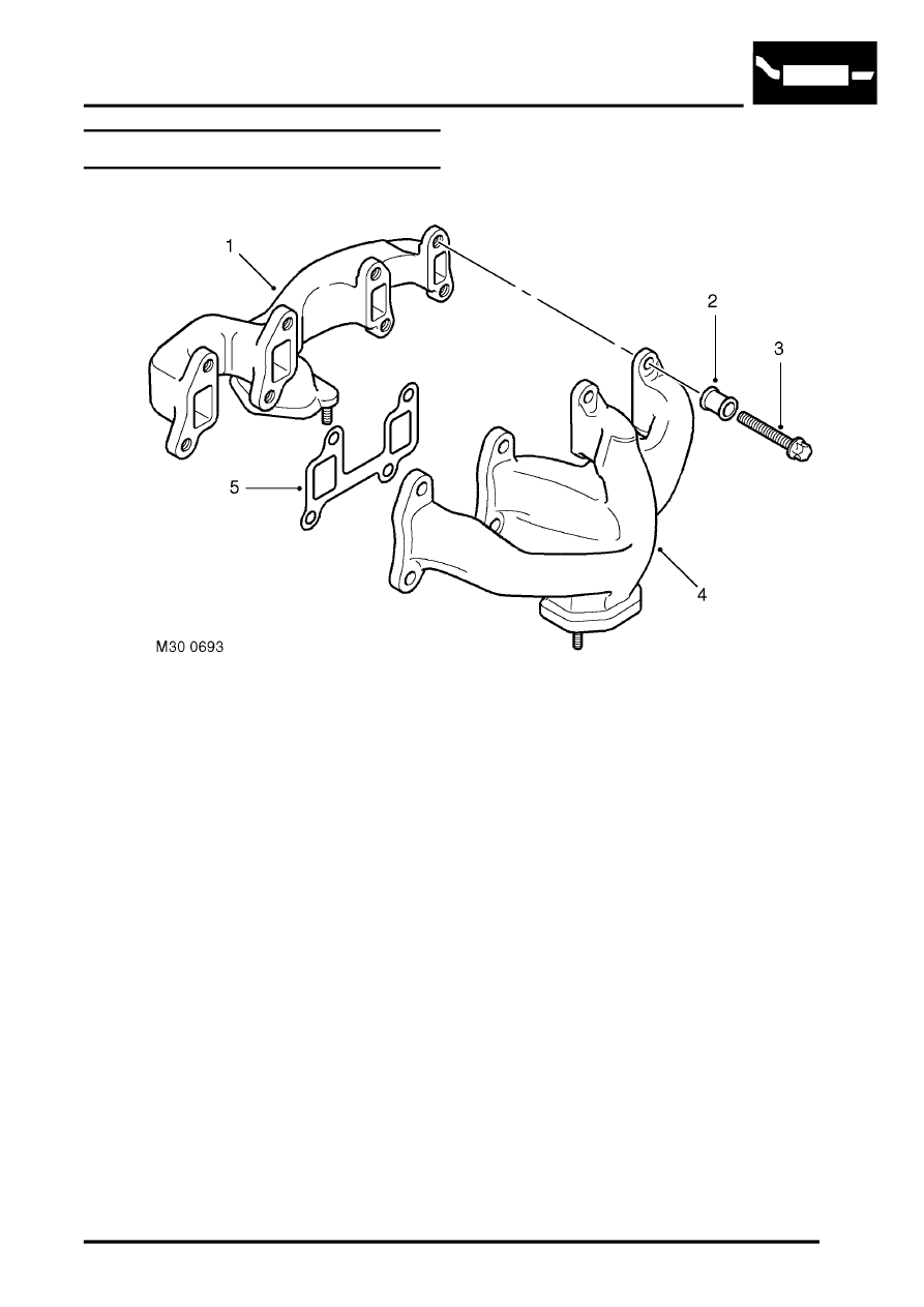 medium resolution of manifolds and exhaust systems v8 description and operation exhaust manifold component layout