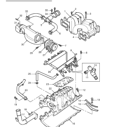 manifolds and exhaust systems v8 description and operation inlet manifold component layout [ 893 x 1263 Pixel ]
