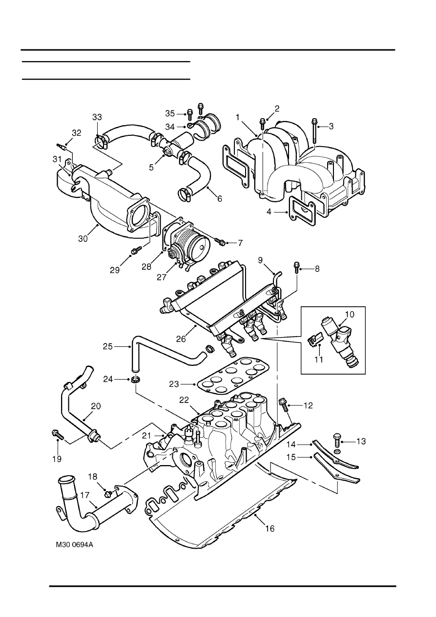 hight resolution of manifolds and exhaust systems v8 description and operation inlet manifold component layout