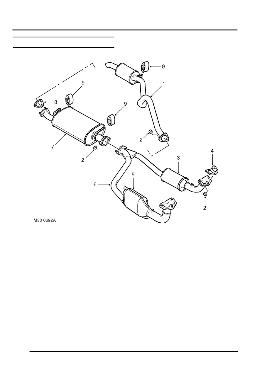 hight resolution of manifolds and exhaust systems v8 description and operation exhaust system component layout