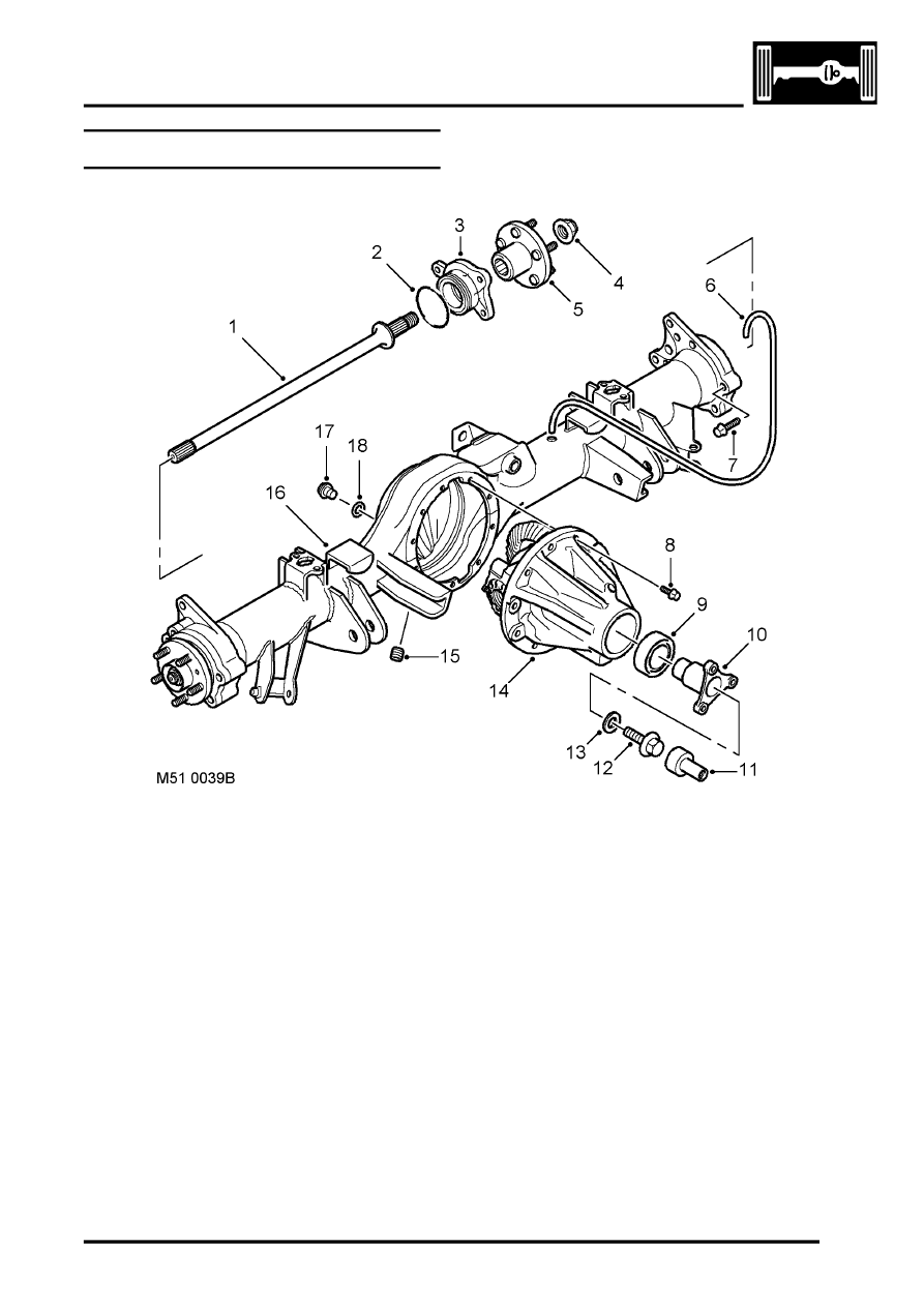 Land Rover Workshop Manuals > Discovery II > REAR AXLE