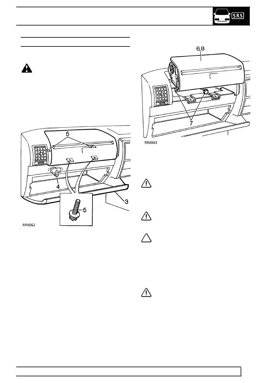 Service manual [Passenger Side Airbag Removal On A 2003