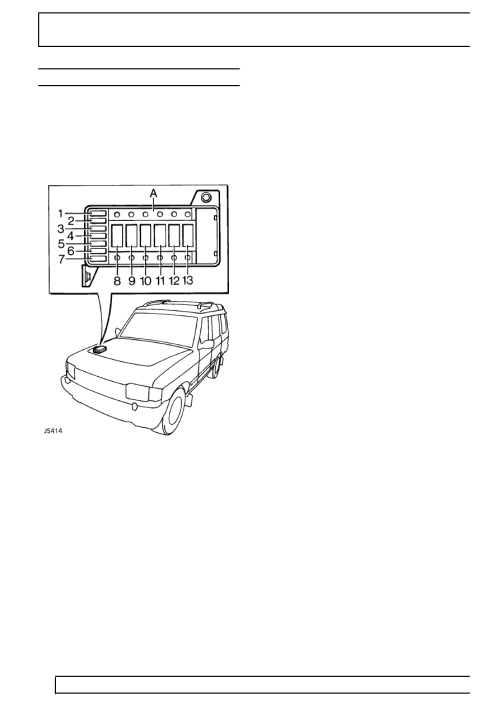 small resolution of land rover workshop manuals u003e 300tdi discovery u003e 86 electrical fuse box diagram 1998