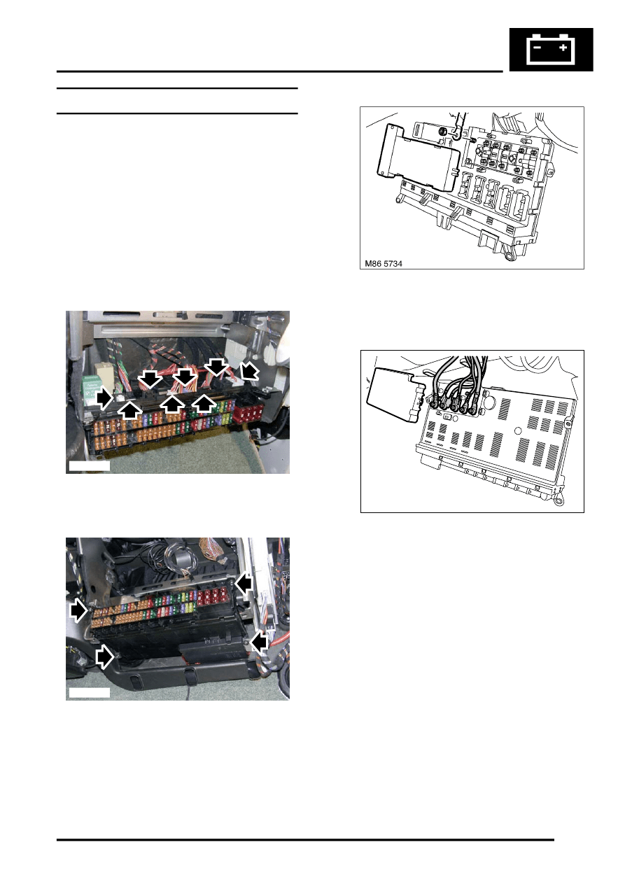 medium resolution of land rover workshop manuals u003e l322 range rover service procedures range rover l322 fuse box removal range rover fuse box l322