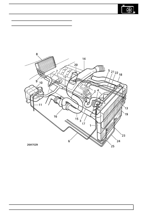 small resolution of land rover workshop manuals u003e range rover p38 u003e 26 cooling system land rover engine cooling diagram
