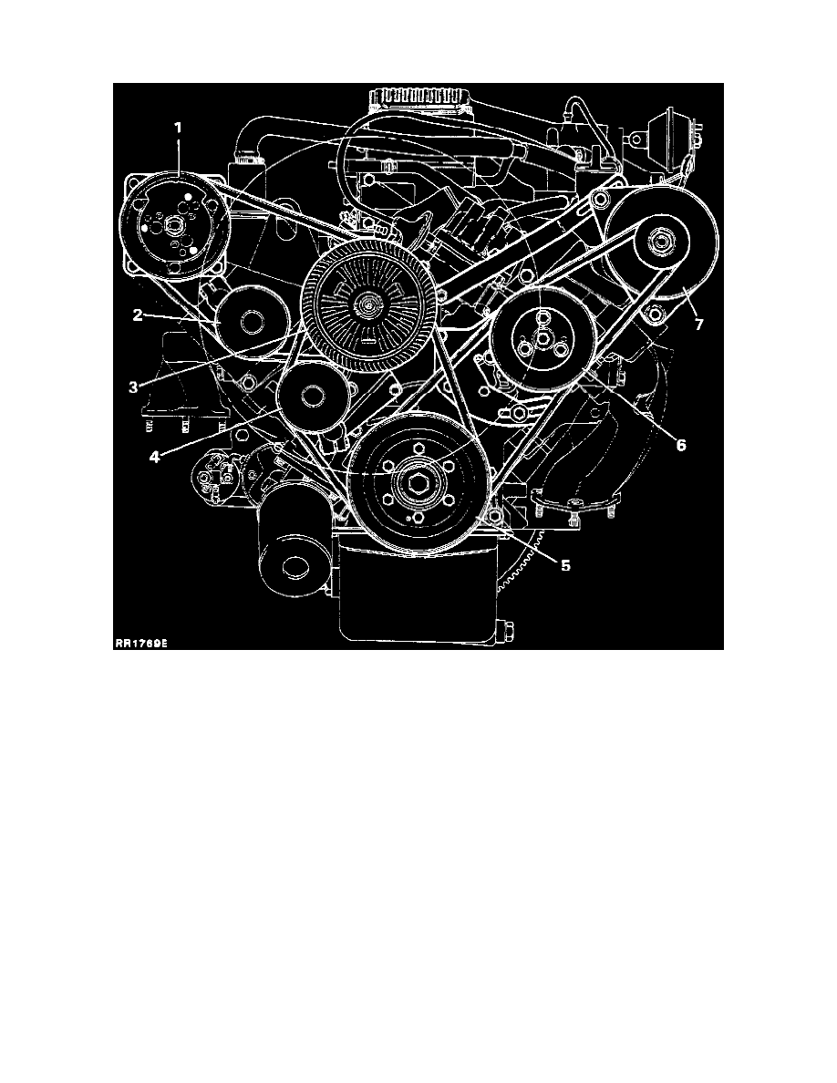 medium resolution of engine cooling and exhaust engine drive belts mounts brackets and accessories drive belt component information diagrams